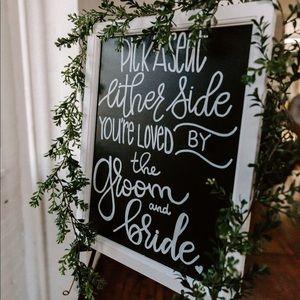 16x20 Wedding Chalkboard
